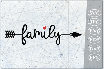 Family Arrow SVG Crafters Printables Svg Png Jpg Pdf Eps Dxf