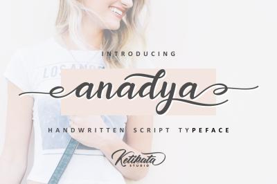 Anadya Handwritten Script