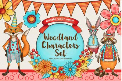 Woodland Creatures Character Creator Set
