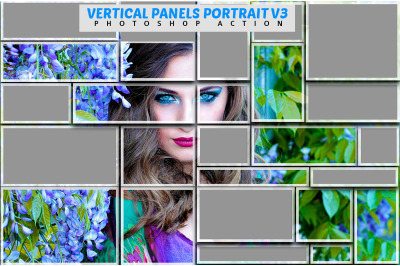 Vertical Panels Portrait V3 Photoshop Action