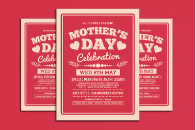 Mothers Day Celebration Typography Style