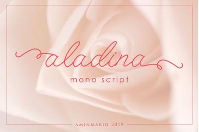 ALADINA   cute monoline script