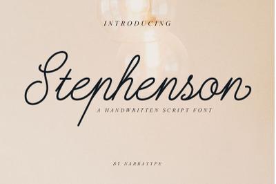 Stephenson Script Font