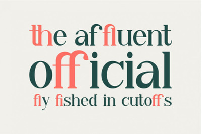 Aiba - The stylish serif font