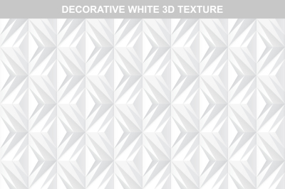 White decorative 3d texture.