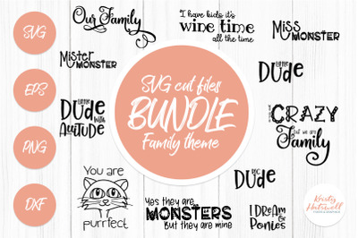 SVG Bundle Family SVG cut files