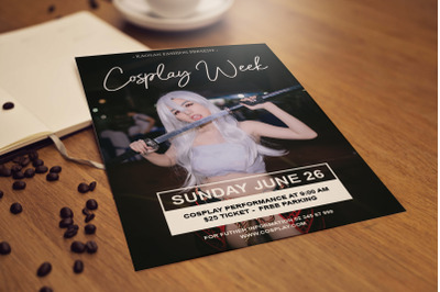 Cosplay flyer template