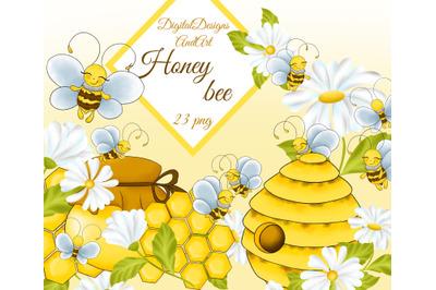 Sweet bee clipart