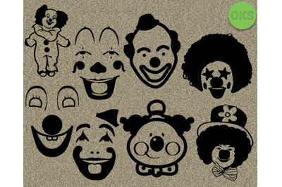clown svg bundle cut file for cricut
