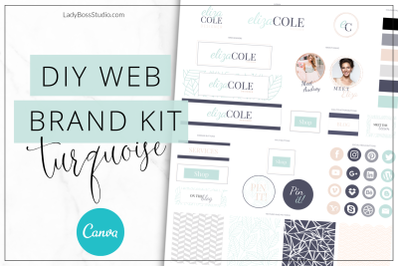 Canva Turquoise Web Branding Kit