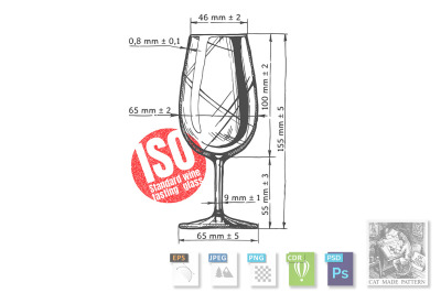 ISO standard wine tasting glass