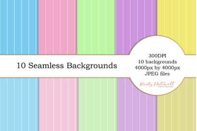 10 Seamless Pinstripe Backgrounds