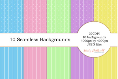 10 Seamless Backgrounds