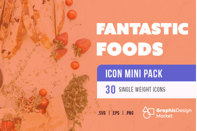 Fantastic Food (30) - Icon Mini Pak by GDM