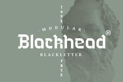 Blackhead Typeface   Font