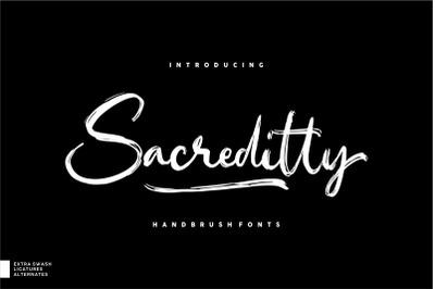 Sacreditty Handbrush Fonts