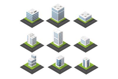 Urban isometric icons