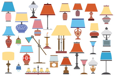 Lamp shades and floor lamps