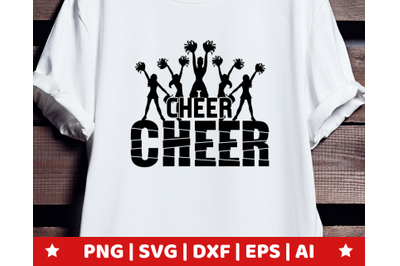Cheerleader SVG - Cheerleader clipart - Cheerleading vector - cheer