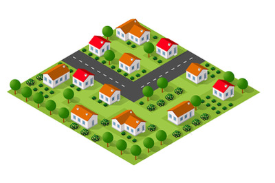 Country village of townhouses