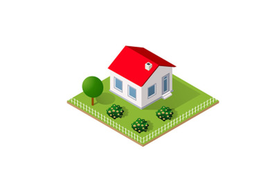 Town House in isometric