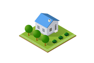 Town House in isometric view