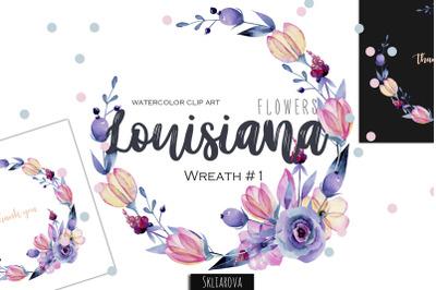 Louisiana flowers. Wreath #1