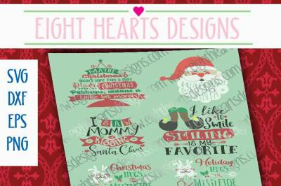 Christmas Collection Pack, Great for Kids!! SVG//DXF//PNG//EPS
