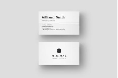 Minimal and elegant business card design