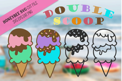 Double Scoop Doodles SVG Cut File
