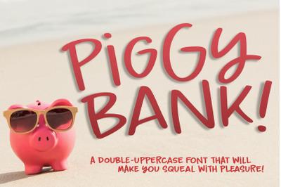 Piggy Bank: a fun casual handwriting font!