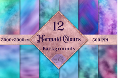 Mermaid Colours Backgrounds - 12 Image Textures