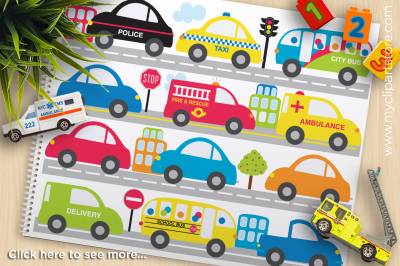 City Transportation / Cars Vector Clipart