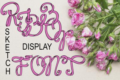 Ribbon display font