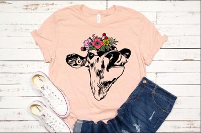 Heifer svg Cow Floral please Bandana crazy Flower Roses svg 1395s