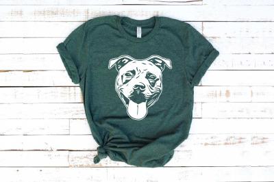 Pit bull Head american merica Dog Bulldogs patriotic Pitbull 1394s