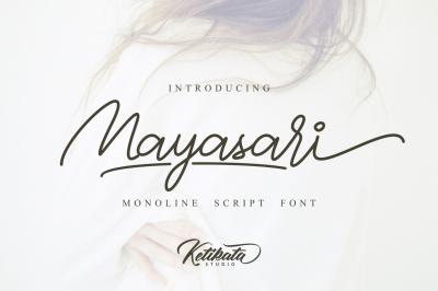 Mayasari Monoline Script