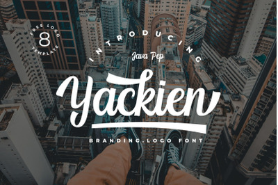 Yackien // Logo Font