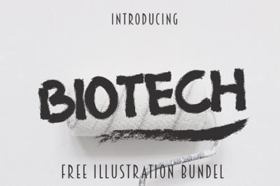Biotech Font Extra 4 Illustration Vintage
