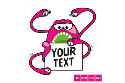 Pink Monster - Text Box