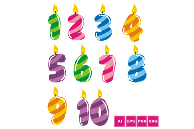 Colorful Birthday Numbers