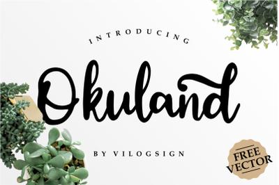 Okuland // Luxury Script Font