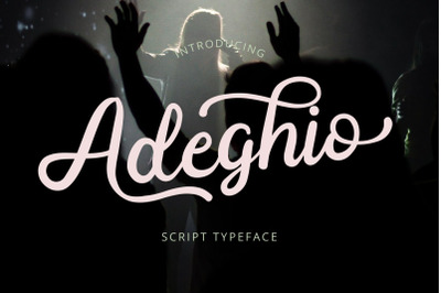 Adeghio Stylish Script Font