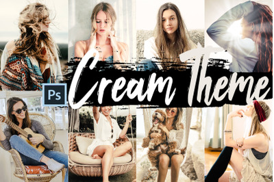 Neo Cream Theme Color Grading photoshop actions
