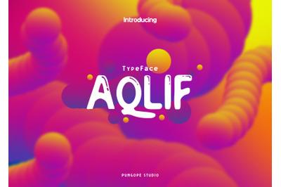 Aqlif Typeface