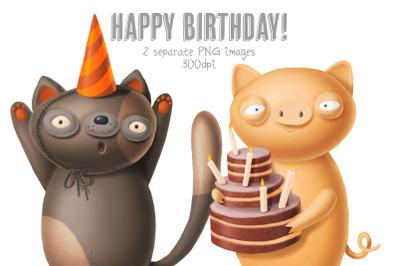 Happy Birthday characters!