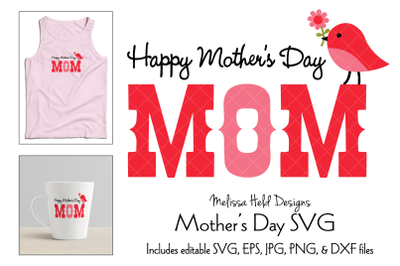 Mothers Day Graphic with Cute Bird