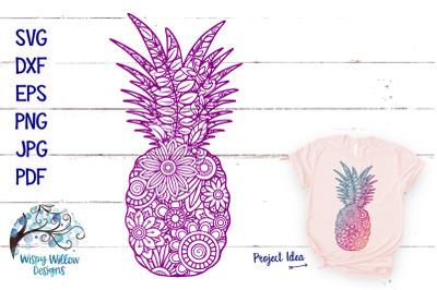 Pineapple Zentangle SVG | Summer SVG Cut File