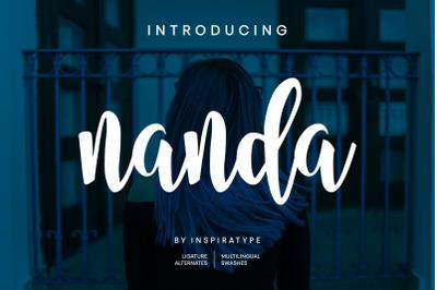 Nanda Script Font