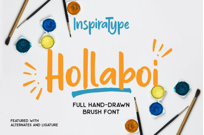 Hollaboi - A Hand-Drawn Brush Font